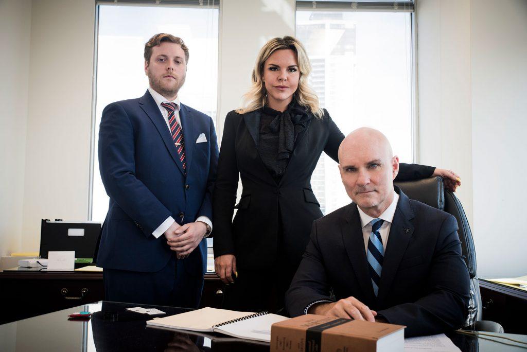 Dean Collett, Jessica Read, and Jason Alsbergas
